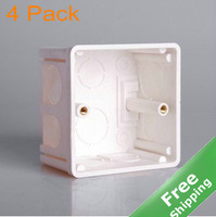 Mounting box 86x86mm for led stair light + 4pcs/Lot + Free shipping