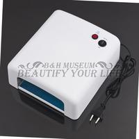1Pcs UV Curing White 220V Tube 4 x 9W Lamp Tubes Gel EU Plug Light Dryer for Nail Art