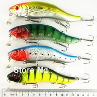 8pcs 120mm Hot 3 hooks Fishing lure 12cm/24.5g Popular Minnow hard plastic lures fishing bait fishing tackle free shipping