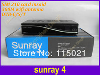 Sunray sr4 800se sunray4 With Triple Tuner And Internal Wifi Satellite tv  Receiver 3 in 1 Tuner DVB-S/C/T