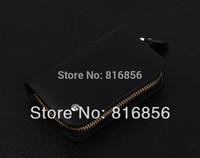 Free Shipping Men's Zipper Key Wallet Case+100% genuine leather multifunction cowhide key holder bag+gift box original package
