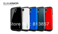 Hot Newest SGP SPIGEN SGP Slim Armor Color case for Samsung Galaxy S4 I9500+Original Box Free Shipping Wholesales