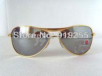 Men's Women's 8015 Sunglasses GOLD frame Reflective lens