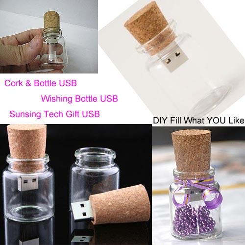Wishing Bottle Cork usb pen drive 8gb /usb flash drive Free shipping 1/2/4/8GB Promotion gift usb(China (Mainland))