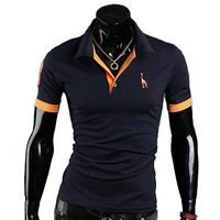 3XL Drop shipping 2014 New Deer Mens T Shirt Men's Short Sleeve T Shirts slim fit tshirts tops tee camisa masculina,RD822
