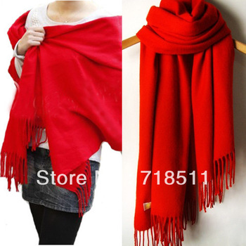 Cashmere scarf tassel wool male Women thermal ultra long cape dual