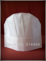 "9"" disposable ECO-Cotton Kids Chef Hat -for CHILDREN- Round Top Style  25x23cm-100pcs/lot"