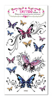 Free shipping temporary tattoos waterproof pop pink butterfly 10