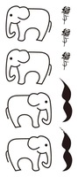 To fashion temporary elephants beard flower tattoo sticker