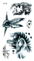 Pegasus the goddess temporary tattoo stickers
