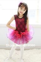 4 pcs/1 lots wholesale Hot sales aubergine Girl's ballet skirt,3y-8years kid dress,kid's TUTU skort &Free freight