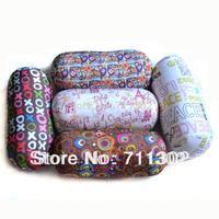 free shipping xo print tube Neck cushion microbead Decorative Roll Microbead column car Pillow Soft Bed 28*15cm