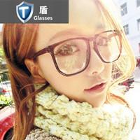 2012 black-rimmed glasses ultra wide big box glasses frame non-mainstream male female eyeglasses frame plain glass spectacles