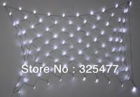 Solar power led net light curtain light ourdoor use garden light string free shipping