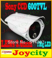 CCTV Camera 1/3 Sony CCD 600TVL Waterproof 1 Led IR Night Vision Surveillance Video Camera Out Or Indoor Free Shipping Joycity