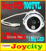 CCTV Camera 700TVL 1/3 Sony CCD 1led IR Night Day Vision Waterproof Surveillance Video Camera Free Shipping Joycity