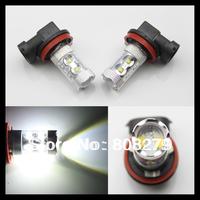 2x 50W Bright White H11 CREE LED Fog Daytime Running Light Lamp bulb HeadLight DRL NEW