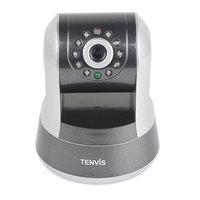 Wireless Pantilt H.264 HD P2P IR-Cut Filter Megapixel IP Network Camera Tenvis IP ROBOT 3 White New F1037B Alishow