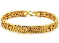 18K gold Bracelets for women fashion lover gold filled bracelet gift jewelry(min order $15)