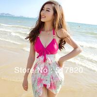 Free shipping Skirted bikini piece set elegant women's bathing suits 1330  bikinis set
