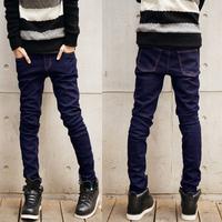 Men's clothing base 2014 slim male water wash jeans denim trousers big brand men jeans skinny pants male fashion jeans for men