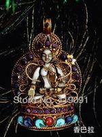 living Buddha medallion, tai sui kaiyun transshipment silver gold hand Buddha statue in Nepal