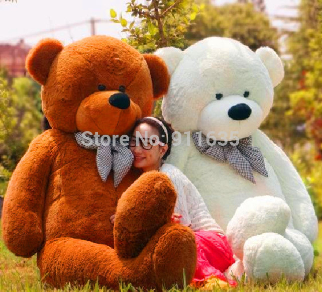 highquality Teddy bear plush toys coat Factory Price 100CM holesale bear shell 4 COLOR Teddy bear plush toys coat free shipping(China (Mainland))