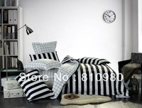 FREE SHIPPING+New Products Piano keyboard Pattern Black and white stripes bedding set  Duvet Quilt covers King size 4pcs set