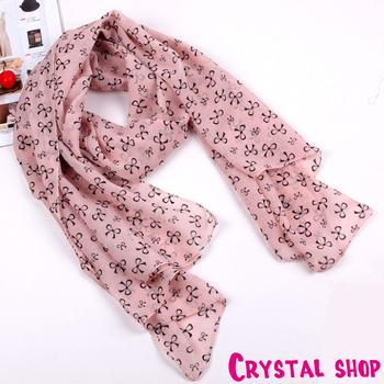 Fashion Silk Bow scarf Chiffon for women 2014 ---cRYSTAL sHOP