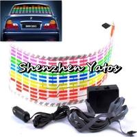 114cm x 30cm Colorful Car Sticker Music Rhythm Light Lamp Sound Activated Equalizer