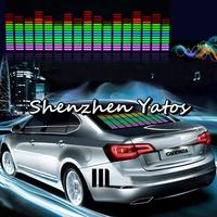 45CMx 11CM Car Sound music Activated equalizer glow Flash light Kit Sticker