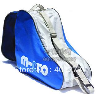 Skating shoe bag skeeler backpack triangle bag adult/child skating shoes single shoulder bag-free shipping(China (Mainland))