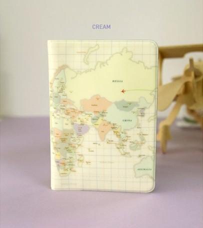 mundo mapa passaporte carteira capa case cartão titular saco bilhete recip