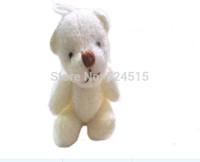#12 H=4cm,100pcs/lot Cartoon Joint Bow teddy bear Plush Pendant,Key Dolls,Mobile Phone pendant,key pendant,bag pendant,Plush toy