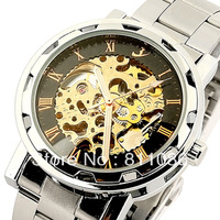 HOT!2013 Fashion Style 20pc Free Shipping Self Wind Mechanical Mens Watch,FLENT Watches 3Hands,100% Good Quality,F001-20