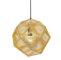 [Glisten Lighting]Free shipping 32CM Etch Shade Pendant Lamp Modern Brass Pendant Lights Design By Tom Dixon PL187