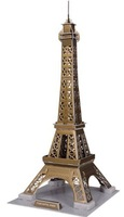 Eiffel Tower 3d DIY Puzzle Educational Toy 50 Piece 3d Jigsaw Puzzle