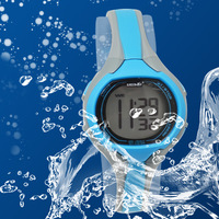 Free Shipping brand New 2013 GREENWON  Digital Day/Date Quartz Alarm Blue Sport Boys Girls Waterproof Gift Watch drop shipping