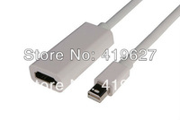 2pcs/lot Thunderbolt Mini display port DP Male to HDMI Female 1080P Converter Cable Adapter For Mac MacBook Pro Air Surface pro