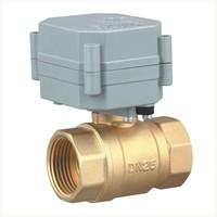 1'' brass motorized valve AC110V-230V 2 way motor operated valve for water control
