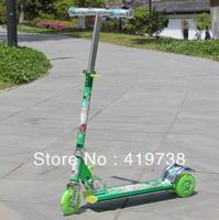 Aluminum flash scooters child  three wheel stroller