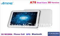 "Qualcomm Dual Core 1.5GHz 3G SIM Card Slot 3G/2G Phone Call GPS WiFi Bluetooth Dual Cameras 7"" IPS Screen Tablet PC"