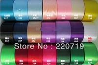 "Free shipping 2""(48-50mm)single face Satin Ribbon/crafts materials DIY Ribbon wedding ceremony seatback ribbon gift wrap"