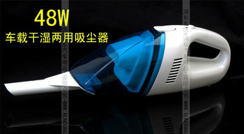 Mini 48W Super Suction Mini 12V High-Power Wet and Dry Portable Handheld Car Vacuum Cleaner Black Color Free Shipping