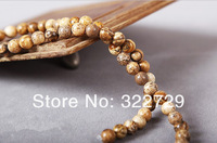 Free Shipping,6 mm Natural Loose Semi-precious Stones China Pictures Beads,DIY Jewelry,Fit Making for Bracelet,186 pcs/Lot