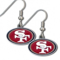 "2014 top new trendy free shipping San Francisco 49 ers rugby earrings ""hanging button sport earrings for women"