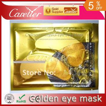 1pack=1pair=2pcs ! ! golden Crystal Collagen Eye Pad Eye Mask anti wrinkle moisture (25 packs gold mask)