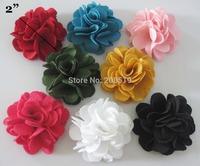 """FZ0001 50MM&2"""" Decorative Flower 100pcs Mix colors Rosettes for clothes Garment accessories"""