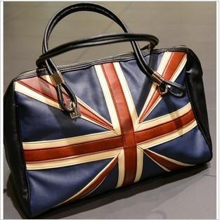 2013 fashion  flag style  women's  shoulder handbag / Trend shopping big bags/ uk flag bag free shipping