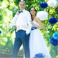 "Free Shipping 20pcs (20cm/8"") Tissue Pom Poms Wedding Nursery Paper Flower Balls Home Garden Party Decoratians"
